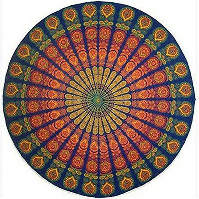 Round Tapestry Yoga Mat Throw Tablecloth Beach Blanket