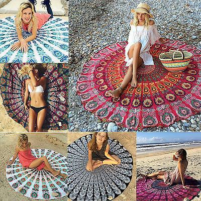 Round Tapestry Large Yoga Mat Tablecloth Home
