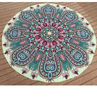Round Yellow Print Bohemian Mandala Tapestry Wall Hanging Be