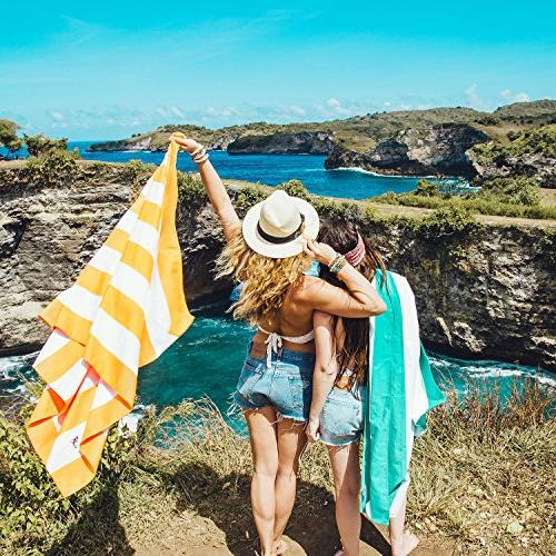 Free - Large - Fast Drying Camping Towel for Sports, Pool, Bath Towel