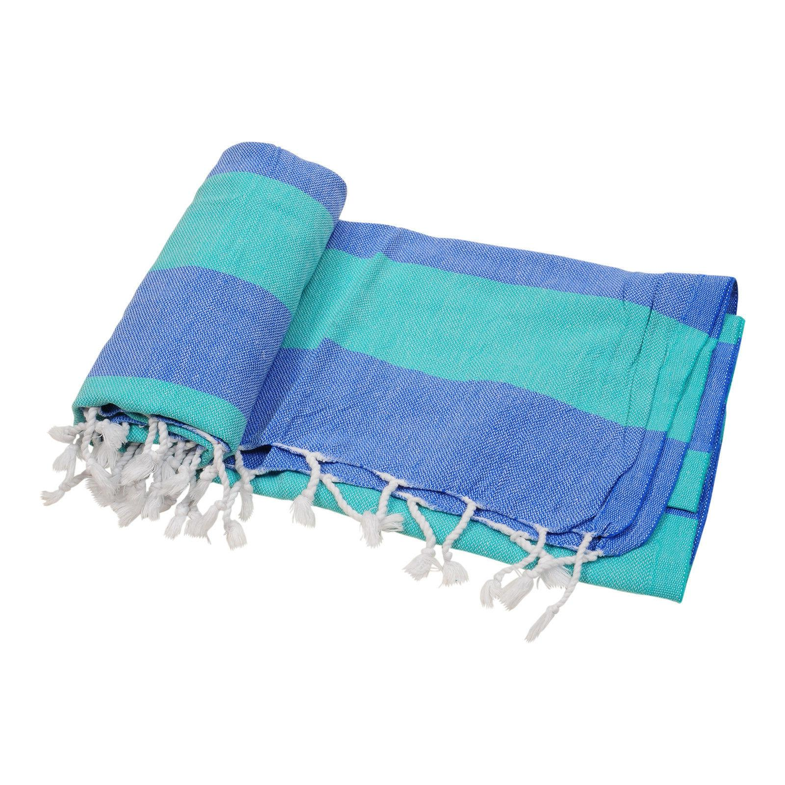 Quick-Dry Turkish Towel Beach Bath Fouta Pareo Sarong 100% C