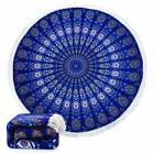 Soft Mandala Thick Summer Round Beach Towel Yoga Mat Blanket