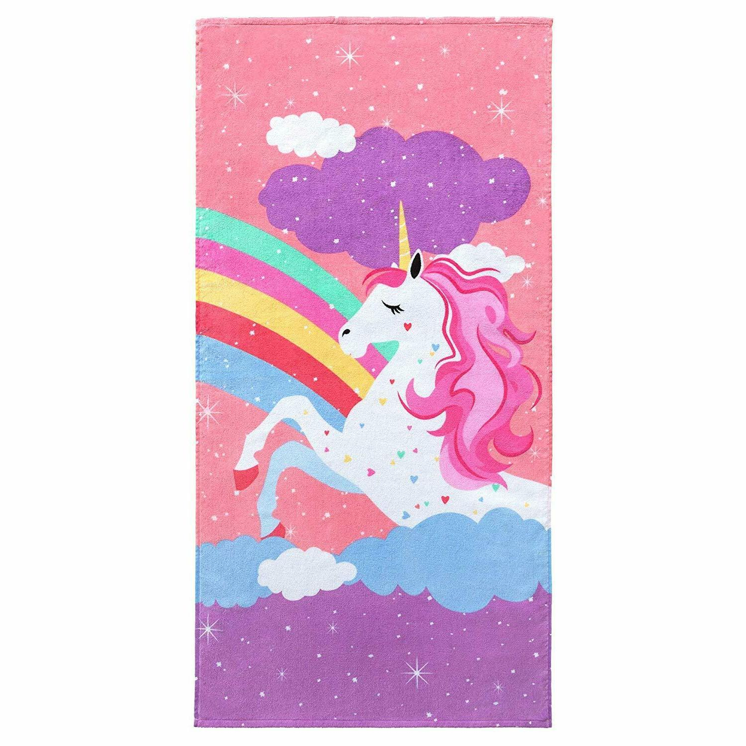 Softerry Rainbow Velour Beach Towel for 28in Cotton