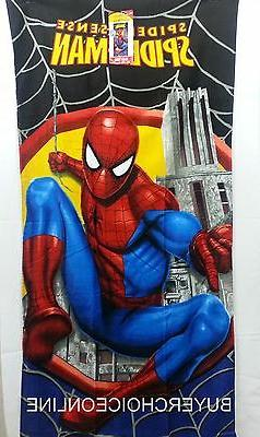 Spiderman Marvel 100% cotton beach towel 71cm x 147cm 032281