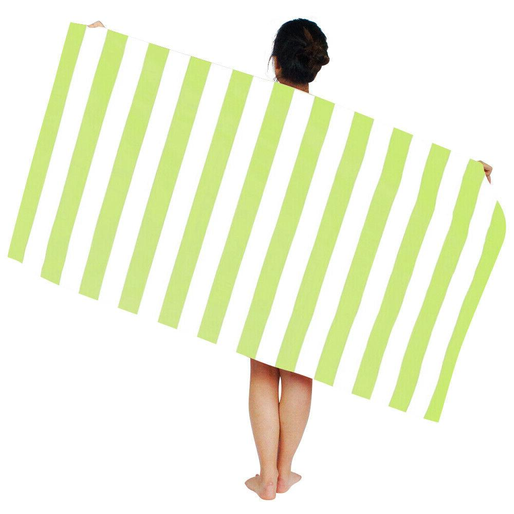 Striped Large Beach Towels- Lightweight HOT