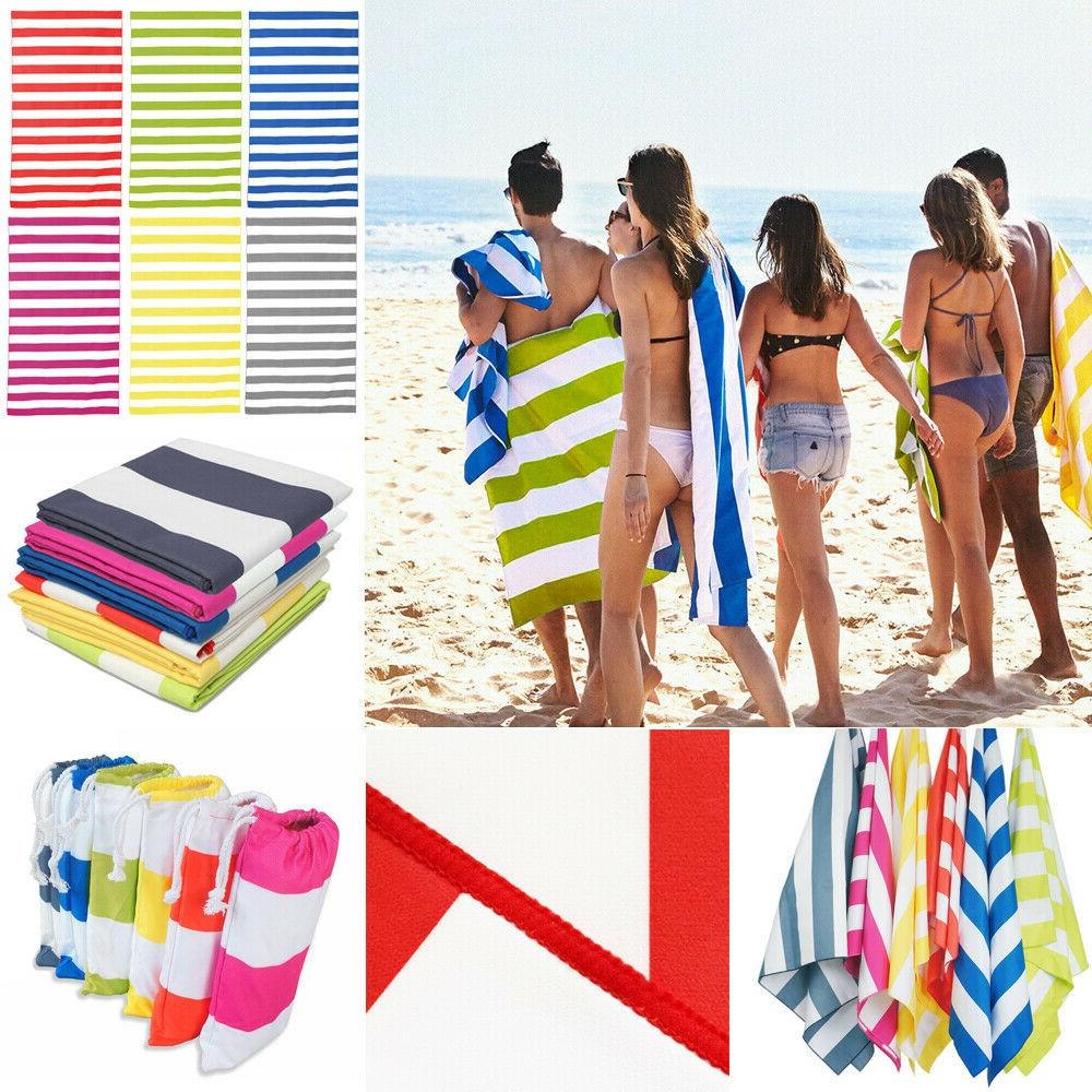 Striped Extra Large Beach Towels- Lightweight