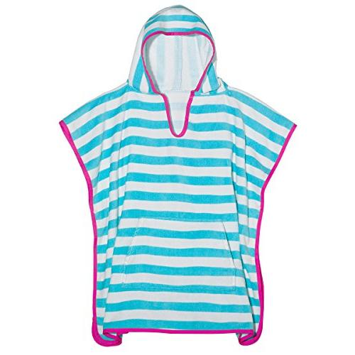 stripes terry cotton poncho cover