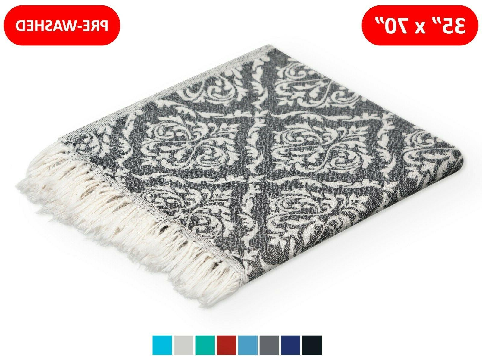 100% TURKISH COTTON MULTI-USE TOWEL 35x70 BEACH BATH BLANKET