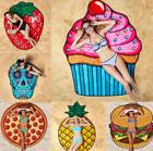 Summer Sunscreen Shawl Beach Pool 3D Printing Food Fruit Sho
