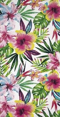 "Tropical Hibiscus III Beach Towel - 30"" x 60"" - Velour - Mad"