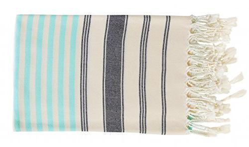 100% Cotton Bath Peshtemal Throw Set