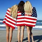 usa beach bath towel american flag red