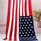 usa beach bath towel american red white