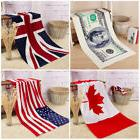 usa uk canadian dollar flag beach towel