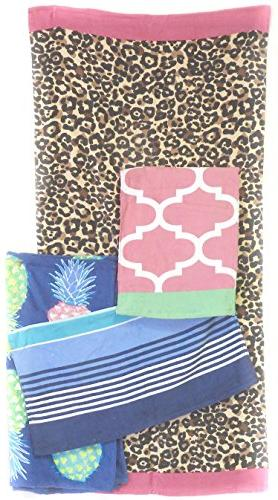 variety plush velour beach towel