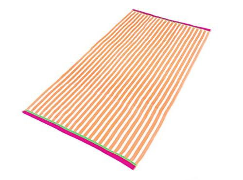KAUFMAN Velour Stripe Towel x 62in
