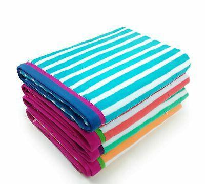 velour racing stripe towel