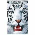 White Tiger Towel Beach Pool Souvenir Big Cat Face Extra Lar