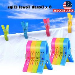 Large Beach Towel Clips Windproof Plastic Sun Bed Lounger Ho