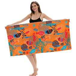 Large Beach Towel Microfiber Camping Bath Gym Travel Sports