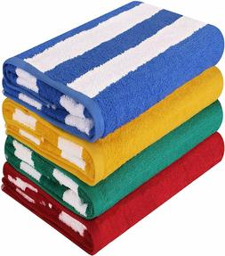 30 x 60 Inches Beach Towels Cabana Stripe 4&12 Pack Wholesal