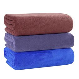 Large Microfiber Bath Towels Soft Highly Absorbent Gym Spa T