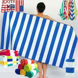 Large Microfibre Beach Bath Towel Sports Travel Camping Gym