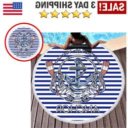 Large Round Beach Towel Picnic Blanket Tapestry Throw Yoga M
