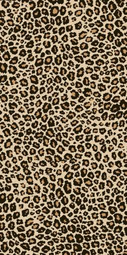 leopard towel animal print beach