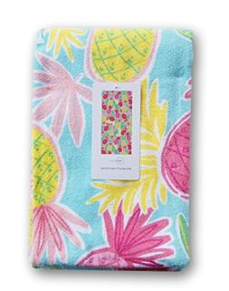 Light Pineapple Beach Towel - 28 x 60 Inches