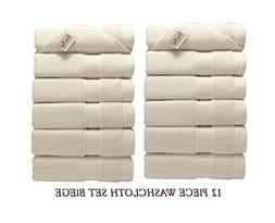 Lint Free 12 Piece Turkish Washcloths Bundles Set Face Bath