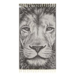 Lion Themed Peshtemal Towel for Bath Beach Pool Adults Baby