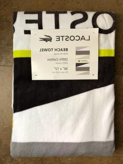 LACOSTE Logo Beach Pool Towel  36 x 72 100% Cotton Brand NEW