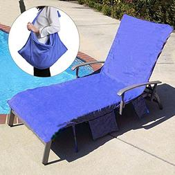 KING DO WAY Lounge Chair Beach Towel Cover Microfiber Pool L
