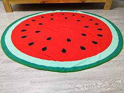 "Lovely Watermelon Beach Travel Towel Round 59"" - Lightweight"