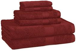 6 Pack Luxury 2 Bath Towels 2 Hand 2 Washclothes 100% Cotton