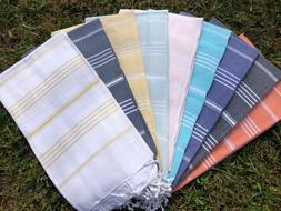 LUXURY BEACH CROSS TURKISH PESHTEMAL TOWEL100%COTTON  SPA US