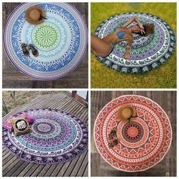 Mandala Floral Boho Tapestry Beach Picnic Beach Throw Towel