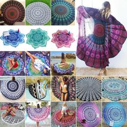 Mandala Indian Tapestry Hippie Throw Boho Beach Yoga Round M