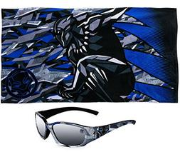 Black Panther Marvel Premium Beach Towel PLUS Kids Sunglasse