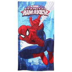 Spiderman Marvel Childrens Boys Ultimate Printed Velour Beac