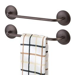 mDesign Kitchen Self-Adhesive Towel Bar Holder for Hand Towe