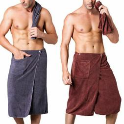 Men SPA Bath Shower Wrap Towel Blanket Swimming Beach Dry Qu