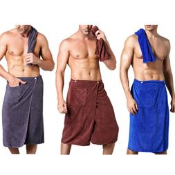 Mens Bath Wrap Towel Soft Microfiber Blanket SPA Swimming Be