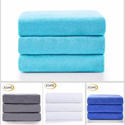 3 Pack Microfiber Bath Towel Super Absorbent Fast Dry Beach