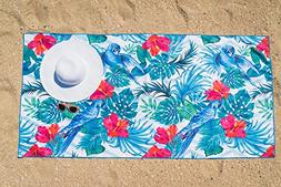 Microfiber Beach Towel for Travel - Quick Dry, Sand Free, Tr