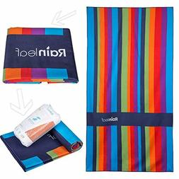 Rainleaf Microfiber Beach Towel Compact Travel Towel Fast Dr
