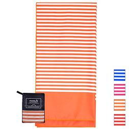 Microfiber Beach Towel for Travel - Oversized XL 70 x 35 Inc