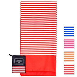 Microfiber Beach Towel Oversized - XL 70 x 35 Inch - Quick D