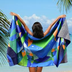Microfiber Beach Towel Oversized - XL 78 x 35 - FISHES
